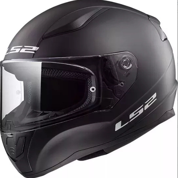 Casco Moto Ls2 Ff353 Rapid Solid Negro Mate Mg Bikes