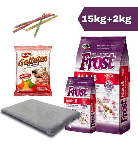 Imagen 1 de 2 de Frost Adulto Lb 17 Kg + Snack + Palitos + Colchoneta + Envío