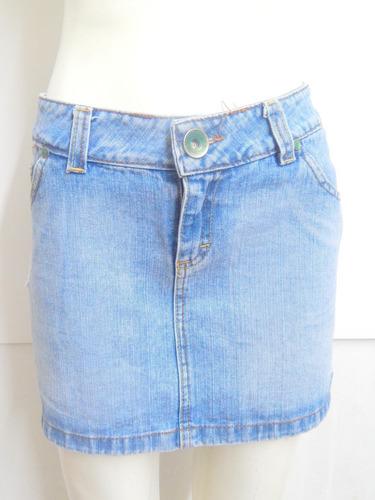 Pollera De Jeans Celeste  Ecole