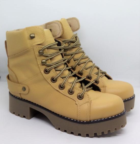 Botas Borcegos Mujer Cuero Riot Art 126 Zona Zapatos