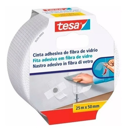 Cinta Adhesiva De Fibra De Vidrio Sellado 50mm X 25m Tesa