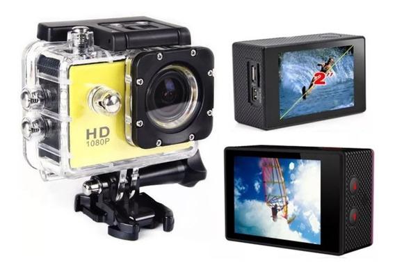 Camera Filmadora Esportiva Hd 1080p Melhor Tela Lcd 2.0