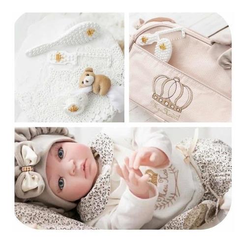 Bebe Reborn Boneca Princesa Menina Pronta Entrega + Bolsa