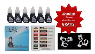 Pigmentos Pure Biotouch Caja Con 6 Tonos3ml C/u Mas 30 Anill