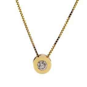 Ponto De Luz Em Ouro 18k Com Diamante 5 Pontos