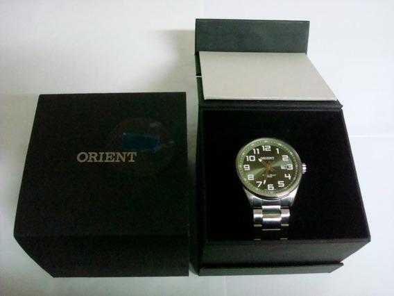 Relógio Orient Masculino Fundo Verde-mbss1271 E2sx-usado