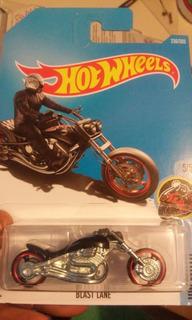 Hot Wheels Coleccion 2017 Moto Blast Lane Negra