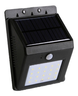Reflector Led Panel Solar Sensor Movimiento Blanco Frio 5w