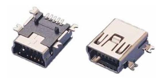 4 Peças Conector Mini Usb B Smd Tablet Gps Controle Ps3