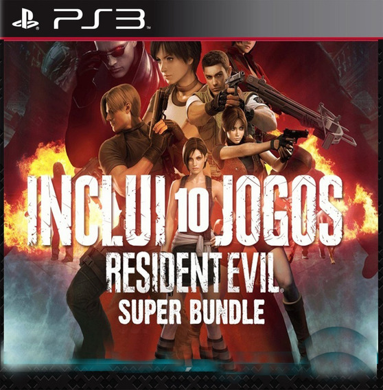 Pacote Resident Evil 10 Jogos - Ps3 Playstation 3