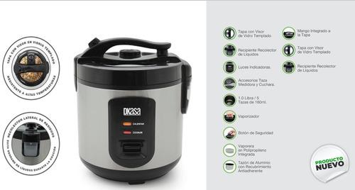 Olla Arrocera Premium Inox Cook 1 Libra Con Vaporizador
