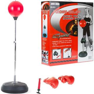 Kit Boxe Saco De Pancada Adulto Infantil Punching Ball Kit