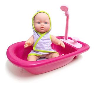 Bebe Poppi Muñeca Primer Bañito Bebote Y Sonidos Cuotas