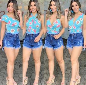 Kit 03 Shorts Jeans Feminino Destroyed Hot Pants Anitta