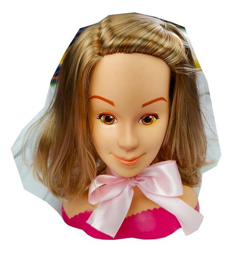 Boneca Tronco Belle My Model Para Criança Maquiar - Meninas