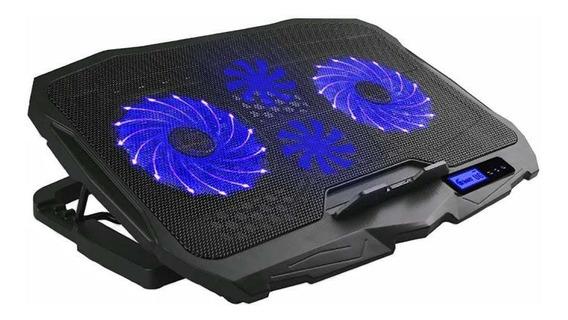 Cooler Gamer Para Notebook Warrior Ingvar Led Azul Ac332
