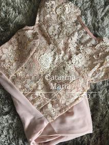 Vestido De Festa Manguinha Tifany Marsala Rose Branco #05
