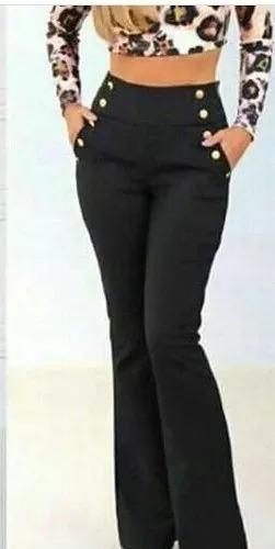 0b512cf82 Calça Social Feminina Bengaline Cintura Alta Modeladora - R$ 64,00 ...