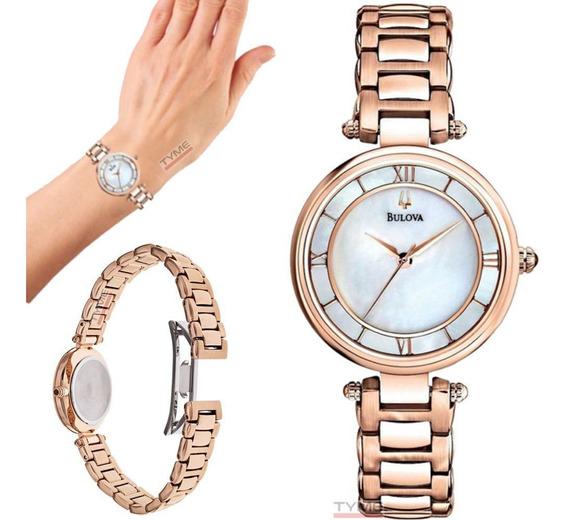 Relógio Bulova Feminino Classic Rosê Wb27725z / 97l124 - Nfe