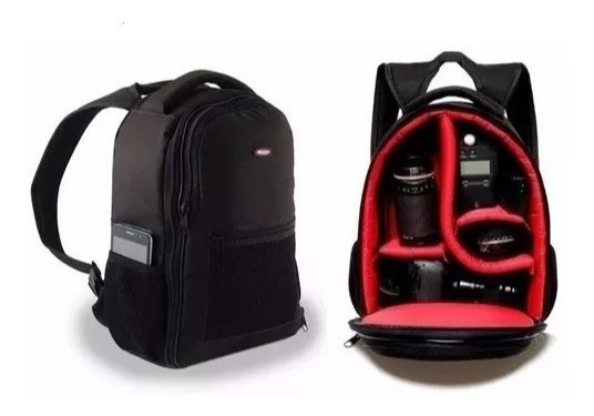 Mochila Case Bolsa Câmera Fotográfica Canon, Sony, Nikon Etc