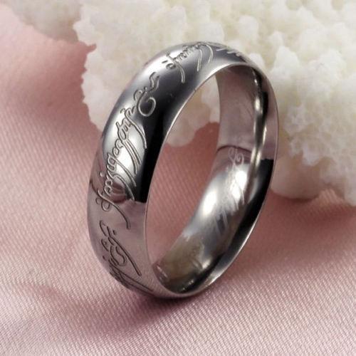 Par De Alianças Senhor Dos Anéis Prata 925