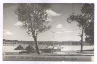 Pr1 Postal Circulado 1969 Pirapora Restaurante Bambuzinho