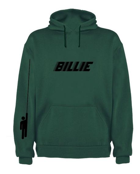 Sudadera Con Gorro Billie Eilish Vino-verde-gris Adulto