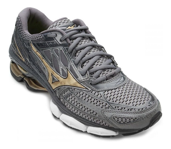 Tênis Masculino Mizuno Wave Creation 19 - Cinza - Original
