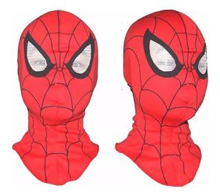 Mascara Homem Aranha Realista Tecido Pano Luxo