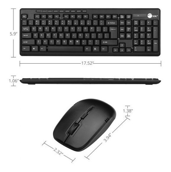 ¡promo! Combo Mouse-tec Inalámbrico Wireless Extra-duo Sigg