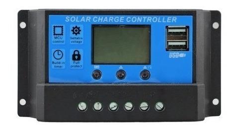 Controlador De Carga 30a 12e24v Pwm Com Lcd