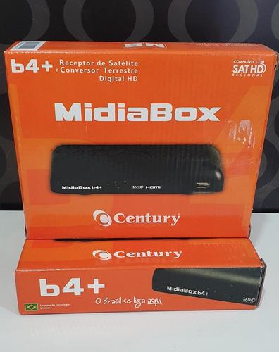 Receptor Century Midiabox Hdtv B4+ Com Conversor Digital