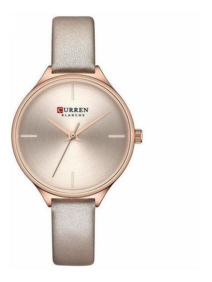 Relógio Curren Feminino De Pulso Mod C9062l - Rose