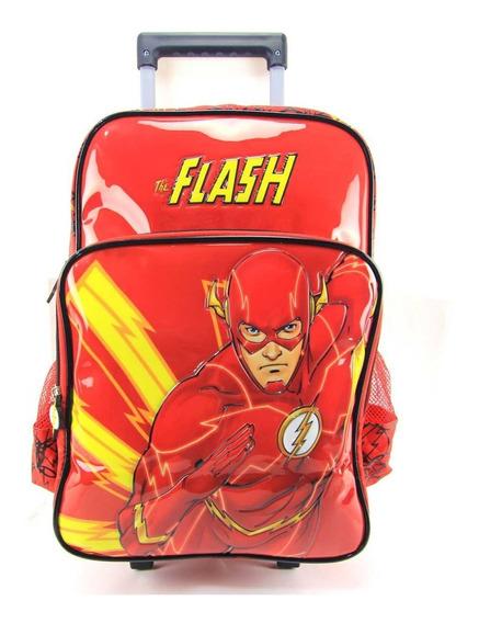 Mochila De Rodinha The Flash Dc Comics Luxcel Ic32922fm-vm