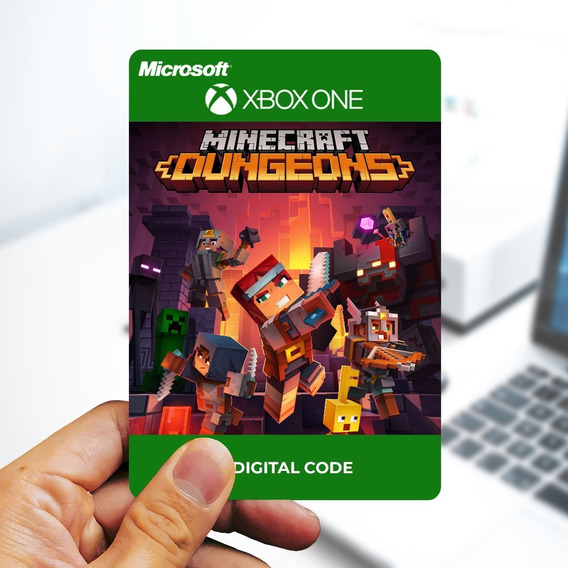 Minecraft Dungeons - Código Original - Xbox One