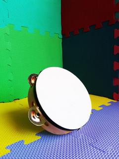 Pandero No. 5 Infantil De Madera Y Cuero 15cm Diámetro
