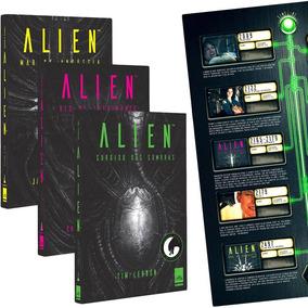 Alien A Trilogia Com 3 Volumes (+ Pôster) Lacrado