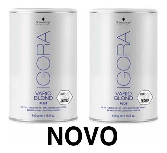 2 Pó Descolorante 450g - Schwarzkopf Igora Vario Blond Plus