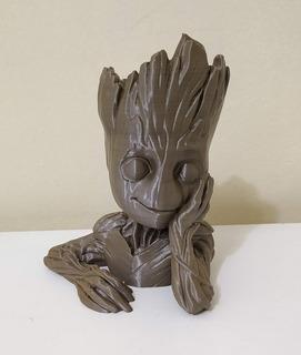 Vaso Baby Groot 12cm Suculentas Cactos Porta Caneta Lápis