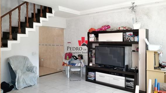 Sobrado Frontal Com 3 Dormitórios Sendo 1 Suíte, 5 Vagas E Salão Comercial, Em Penha. - Pe24757