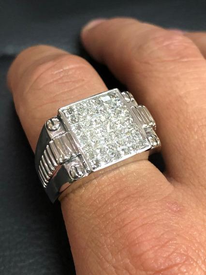 Anillo 14k Diamantes (caballero)