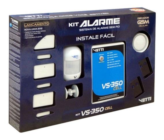 Kit De Alarme Residencial Vs 350 Cell - Gsm Vetti
