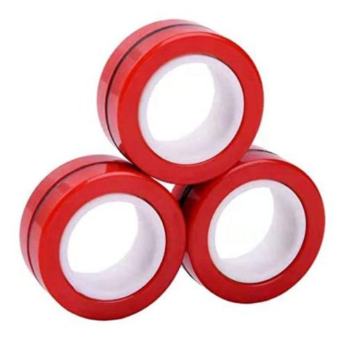 Anel Magnético Hand Spinner Anti Estresse - Vermelho