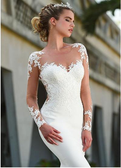 Sereia Vestidos De Casamento Turquia Apliques Vf46