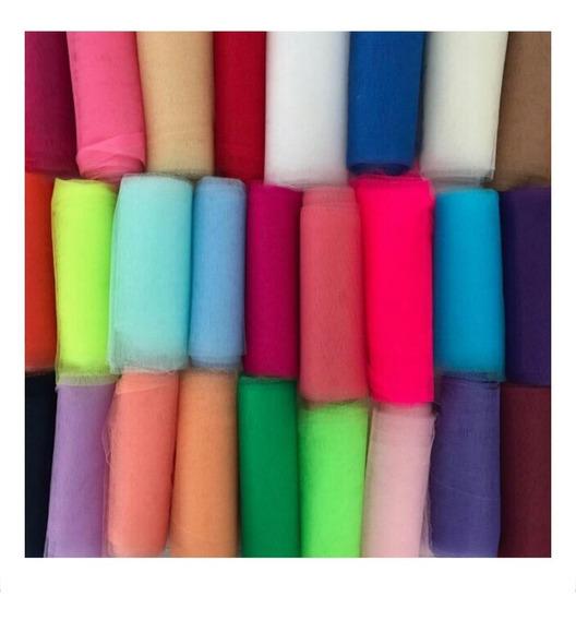 Tul Color Rollo De 10 Mts (opción Mercado Envíos) Ancho1,40