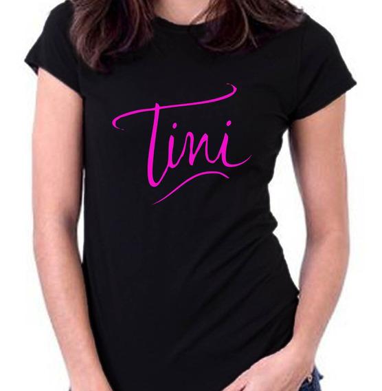 Remera Tini Stoessel Calidad Premium 100% Algodón 2