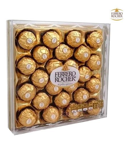 Ferrero Rocher Caja Acrílico 24 Unidades Bombón Chocolate