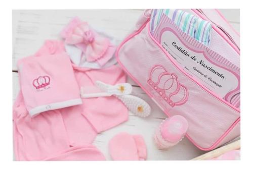 Enxoval Luxo Completo Bolsa Maternidade Bebe Reborn Rosa