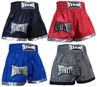 Bermuda Muay Thai Short Calção Tactel Boxing Bordado