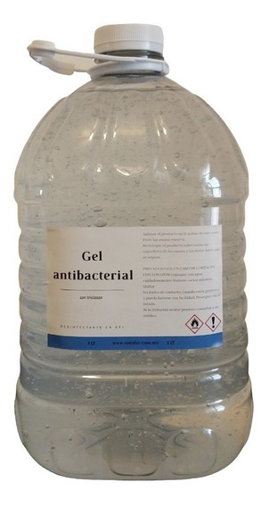 Alcohol En Gel, Gel Antibacterial Al 70%, Desinfectante 5l